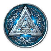 norse_valknut_blue_round_car_magnet